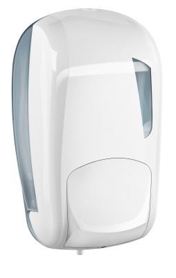 folyékony szappan adagoló, fehér/átlátszó 1literes 1.